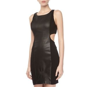 Tart Leather Front Cut Out Dress